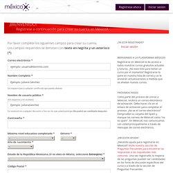 Registrarse en MéxicoX