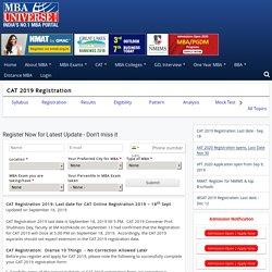 CAT Registration 2019: Last date for CAT Online Registration 2019 - 18th Sept