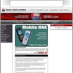Hockey North America - HNA.com (Design, Hosting, Registration & Administration tools by esportsdesk.com)