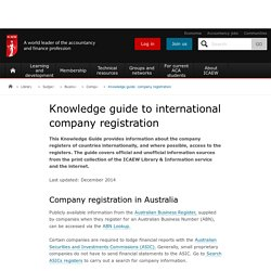 Knowledge guide to company registration | Company administration | Business management