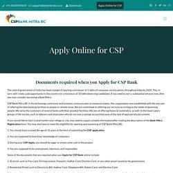 Apply Online for CSP Registration