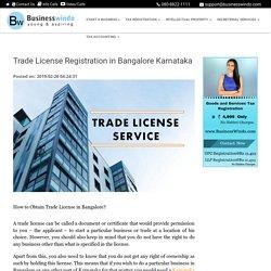Trade License Registration in Bangalore Karnataka