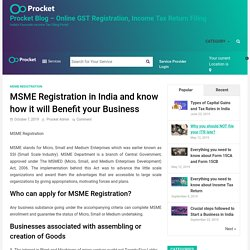 MSME Registration in India and know how it will Benefit your Business