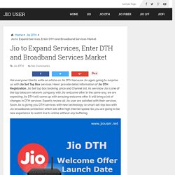 Jio DTH Set Top Box, Launch Date & Plans