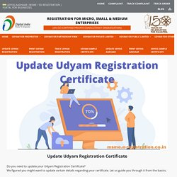 Update Udyam Registration Certificate