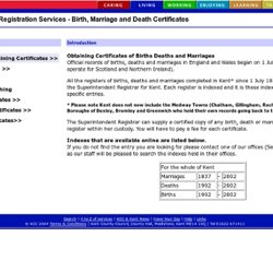Kent Registration Services - Birth, Marriage and Death Certificates - home