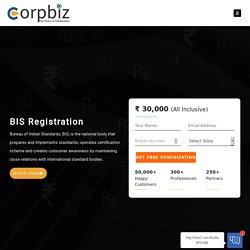 BIS Certification in India - Corpbiz