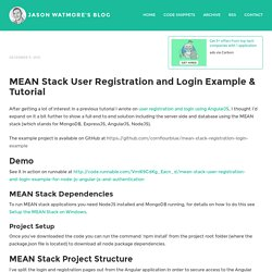 MEAN Stack User Registration and Login Example & Tutorial