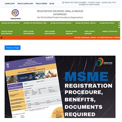 MSME Registration Online - Process, Benefits, Documents required