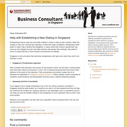 Seek Help for a Singapore Company Formation