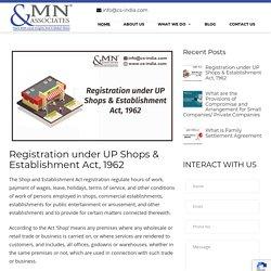 Registration under UP Shops & Establishment Act, 1962