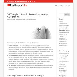VAT registration in Poland for foreign companies - Blog
