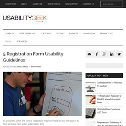 5 Registration Form Usability Guidelines