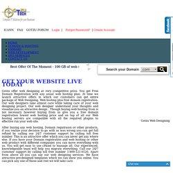 Domain registration, Web hosting, Web Designing - Gotzu