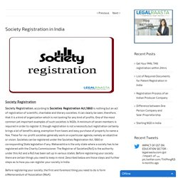 Society Registration in India