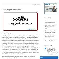 Society Registration in India