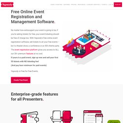Free Online Event Registration and Management Software