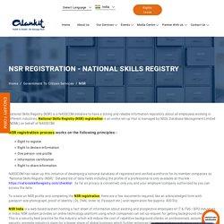 NSR Registration - Point of Service (POS) for National Skills Registry