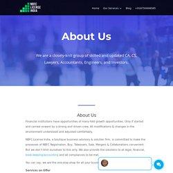 About Us- NBFC Registration