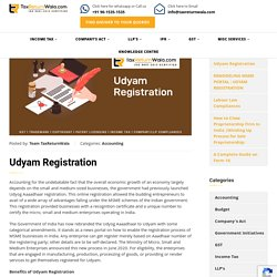 Udyam Registration - File Taxes Online