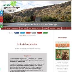Irish civil registration records survive intact.