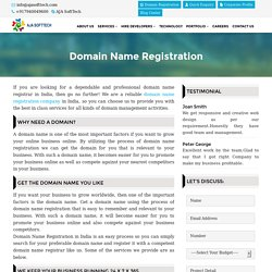 Register your Domain with AJA SoftTech