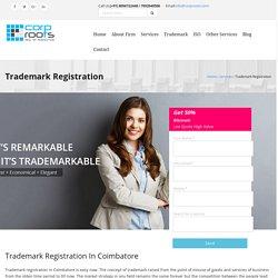 Trademark Registration in Coimbatore - Corproots Assists In Registering Trademark