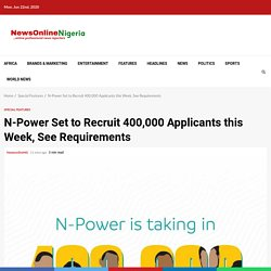 NPower Registration Requirement and date for batch C enrolment