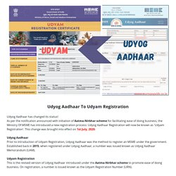 Udyog Aadhaar To Udyam Registration
