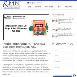Registration under UP Shops & Establish-ment Act, 1962