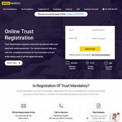 Online Trust Registration Service Provider - Vakilsearch