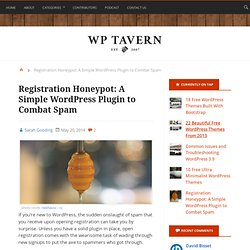 Registration Honeypot: A Simple WordPress Plugin to Combat Spam