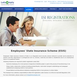 ESIS registration in India
