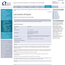 Registre des essais cliniques