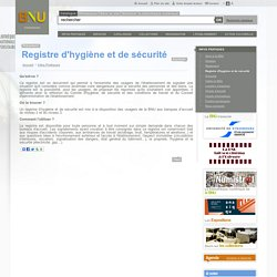 Registre d'hygiène et de sécurité