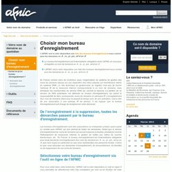 Registre Internet des noms de domaine en .fr et en .re / Solutions de Registre - AFNIC