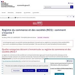 Registre national du commerce et des sociétés : comment s'inscrire