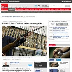 Armes à feu:Québec créeraun registre
