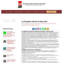 Le Registre Santé et Sécurité – CGT Éduc'action Clermont-Ferrand
