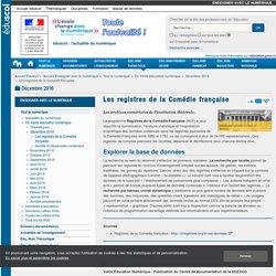 Les registres de la Comédie française — Enseigner avec le numérique