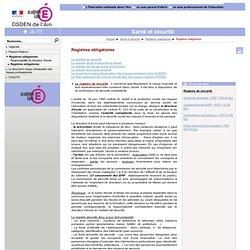 Santé et sécurité - Registres obligatoires
