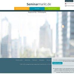 Registrierung - Seminarmarkt.de