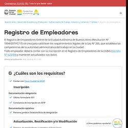 Registro de Empleadores
