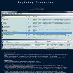 Registry Commander