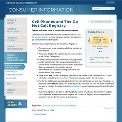 Cell Phones and The Do Not Call Registry