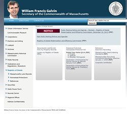 Registry of Deeds Division