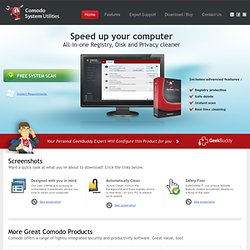 System Cleaner Disk Registry Cleaner Speed Up PCs by Comodo