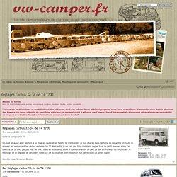 Réglages carbus 32-34 de T4 1700
