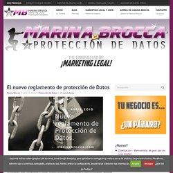 El nuevo reglamento de protección de Datos ⋆ Marina Brocca
