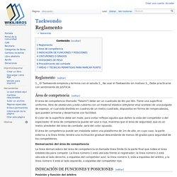 Taekwondo/Reglamento